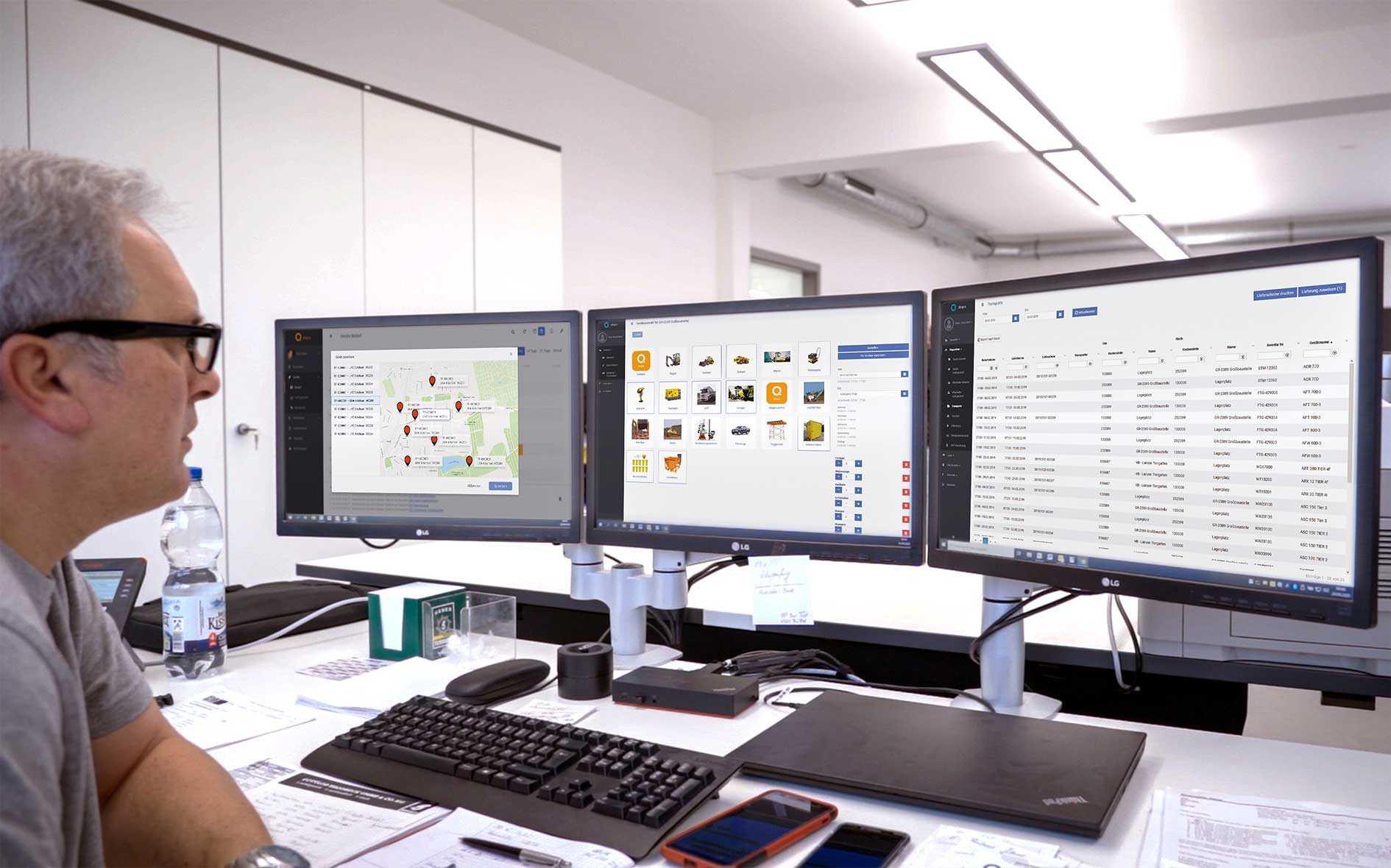 Q Dispo Zentrale Disposition von Maschinen Transporten und Personal